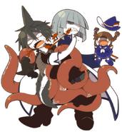 Fumiki beats up samekichi