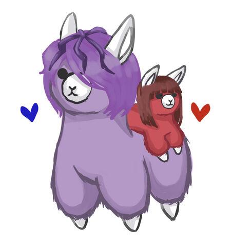File:Alpaca ib and garry by lucidlunacy-d5kqaho.jpg