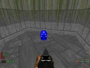 Llave cráneo azul