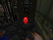 Llave cráneo roja
