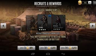 Elite character rewards