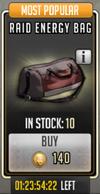 Raid energy bag