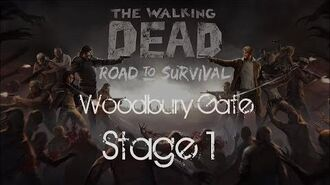 The Walking Dead Road to Survival Woodbury Gates Stage 1-0