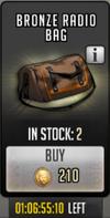 Bronze radio bag