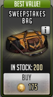 Sweepstakes bag