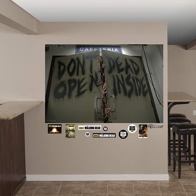 Image don 39 t open dead inside mural walking dead for Mural walking dead