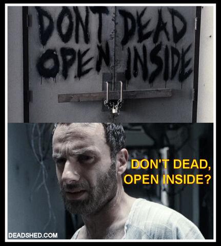 File:The Walking Dead Season 1 Meme Rick Hospital Sign DeadShed.jpg