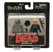 Walking Dead Minimates Series 4 Michonne (Poncho) & Gabe 2-PK