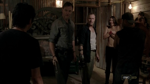 File:Glenn, The Governor, Merle, Maggie and Caesar 3x07 (2).png