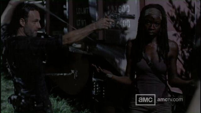 File:Rick Distrusts Michonne.jpg