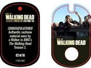 The Walking Dead - Dog Tag (Season 2) - Walker C2 (AUTHENTIC WORN COSTUME PIECE)
