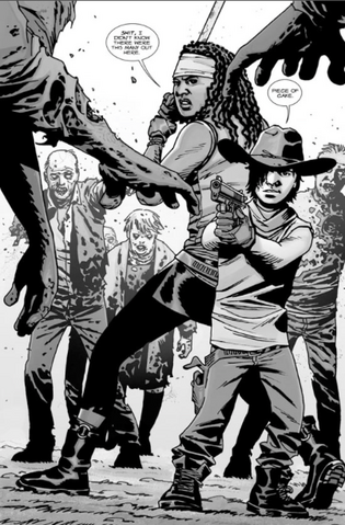 File:Issue 108 Carl and Michonne.png