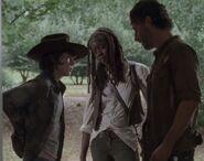 Carl,Michonne,Rick (Claimed)