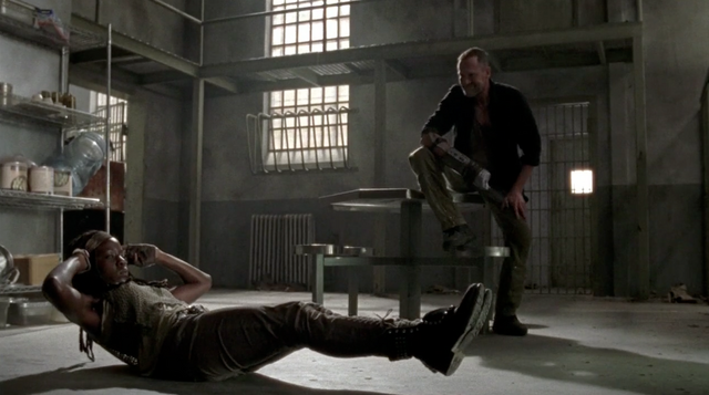 File:Michonne and Merle 3x11.png
