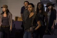 Sasha and The Group Watch Shiva 7x09 Rock In The Road