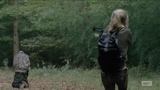 File:Beth about to shoot a walker with crossbow.JPG