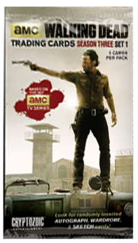 The Walking Dead Season 3 Trading Cards Part 1 Pack