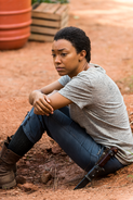 Sasha Williams At Abraham's Grave 7x05 Go Getters
