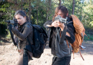 AMC 614 Daryl Rosita Aiming