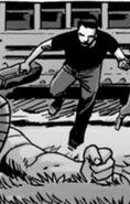 Harlan jumps to see Rick's injury