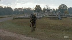 Beth being carried by Daryl piggybackride