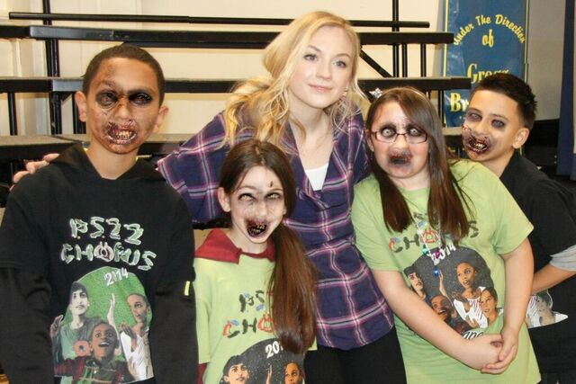 File:Emily with children zombified on singing together at 2014 children event.JPG
