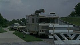 RV and other vehicles at the CDC