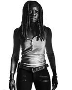 TWDMichonne-Season7-Black and White