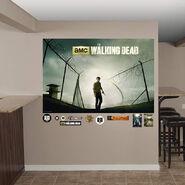 Rick Grimes Prison Fence Mural 2
