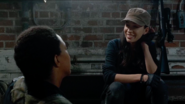 Rosita Espinosa bonds with Sasha Williams 7x14