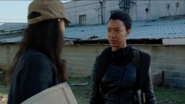 Sasha Williams talking to Rosita, who wants to infiltrate sanctuary instead 7x14 The Other Side