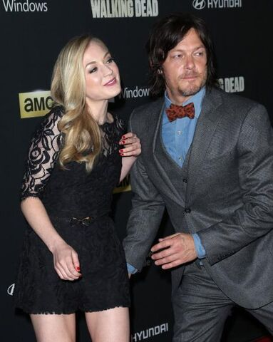 File:Emily and Norman about to hug on the red carpet.JPG