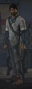 Javier is standing