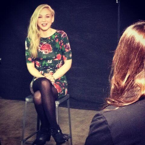 File:Emily Kinney adorable flower dress interview.jpg