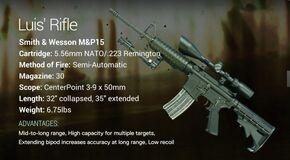 Luis' Rifle