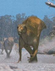 Muttaburrasaurus on the move