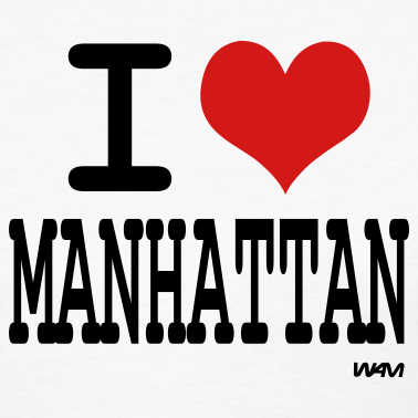 White-i-love-manhattan-by-wam-women-s-t-shirts design