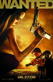 A picture of a Wanted movie poster