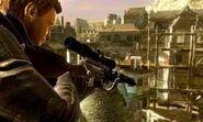 Sniper cover game art