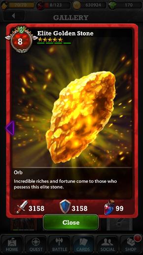 Elite Golden Stone 8