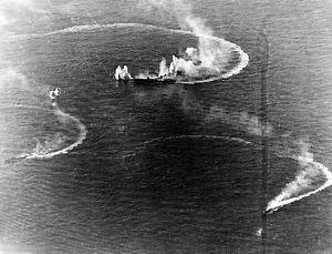 Zuikaku and two destroyers
