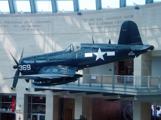 File:F4U Corsair on display at the National Museum of the Marine Corps.JPG