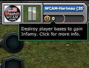 Destroy player bases to gain Infamy. Click for more info.
