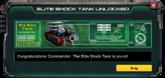EliteShockTank-UnlockMessage