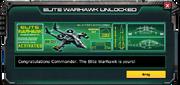EliteWarhawkUnlockMessage