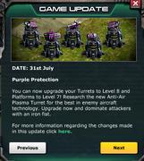 Update July 31