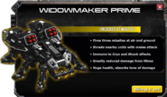Widowmaker prime unlocked at wave 61