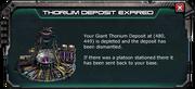 Thorium Depot Expired