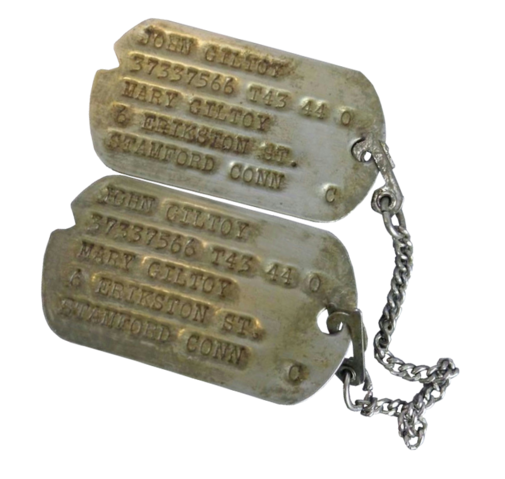 File:John Giltoy's Bataan Death March Dogtags.png