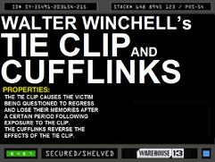 Walter Winchelll's Tie Clip and Cufflinks